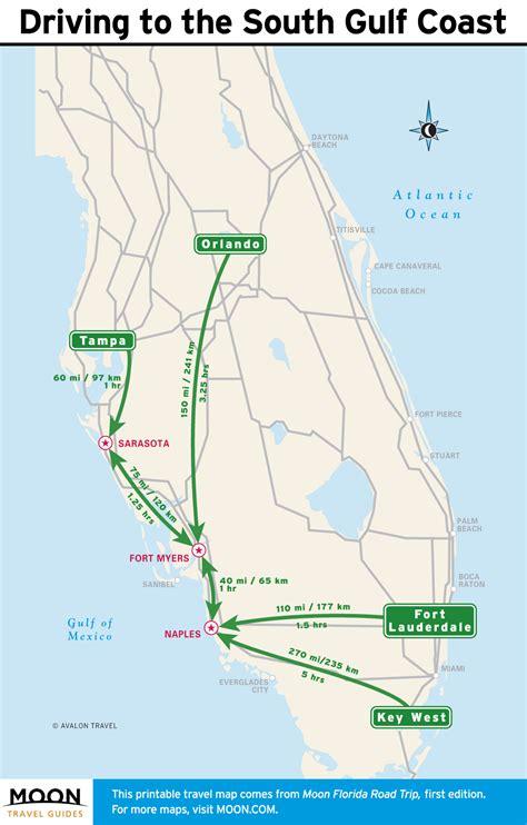 map of florida gulf printable travel maps of florida and the gulf coast moon