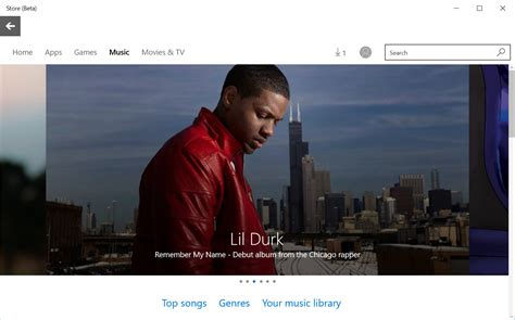 music section the music section is now live in the windows 10 store neowin