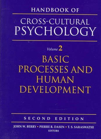 Handbook Of Culture And Psychology handbook of cross cultural psychology volume 2 basic