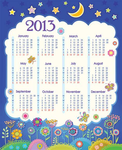 calendar design elements elements of calendar grid13 design vector set free vector