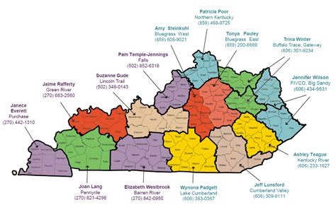 kentucky economic map image gallery kentucky area development districts