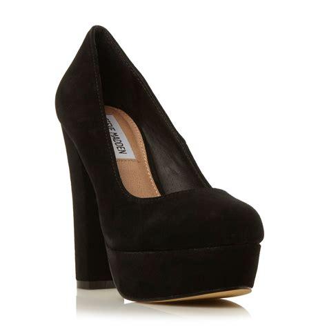 steve madden high heels black steve madden bettty chunky heel courts in black black
