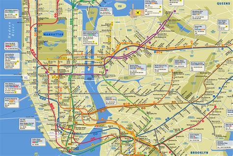ny city subway map new york city subway map