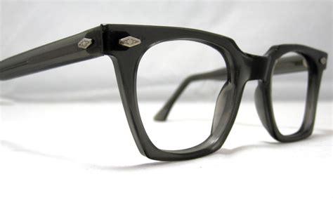 vintage eyeglasses frames mens horn gray glasses mad