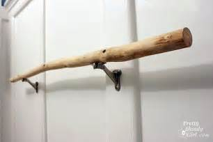 twig towel bar sanding tutorial and prepping a branch towel bar pretty
