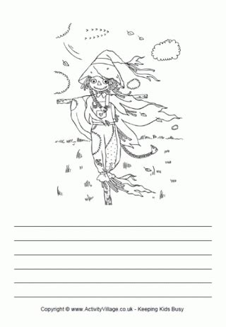 scarecrow writing paper scarecrow writing paper