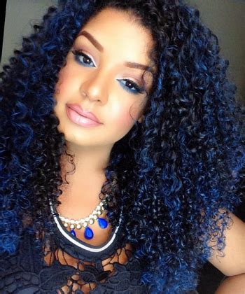 natural hair color with blue blue black hair tips and styles dark blue hair dye styles