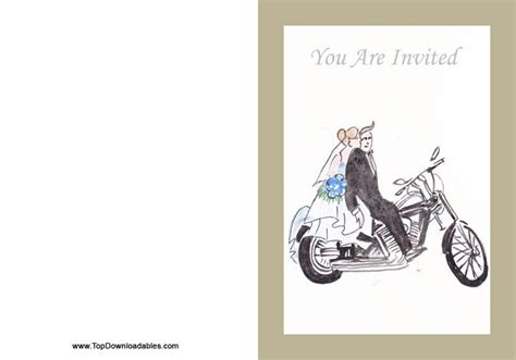 Wedding Invitation Motorcycle Theme Diy Free Wedding Printable Templates Pinterest Motorcycle Birthday Invitation Templates
