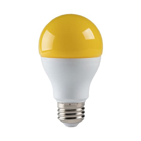 Led Bug Light Bulb Led Bug Light Bulb A19 Yellow 75 Watt Equivalent 940 Lumens Led Shop Lights Garage