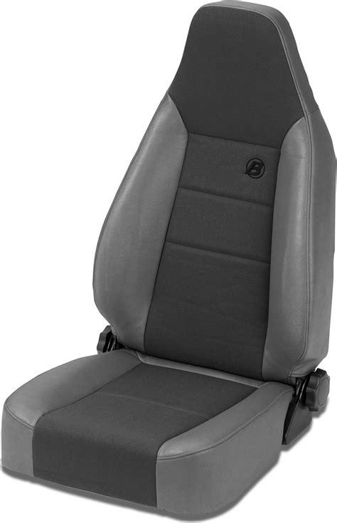 bestop jeep tj seats bestop trailmax ii sport front seat in fabric for 76 06