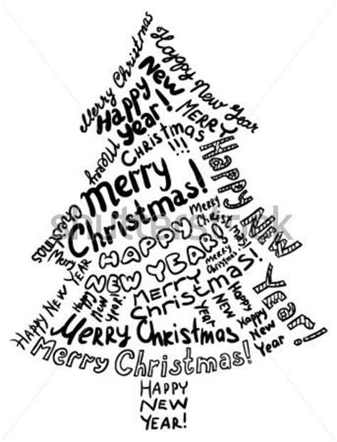 christmas tree text symbol kontur weihnachtsbaum bestehend aus text gr 252 223 e stock vektorgrafik clipart me