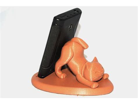 Cat cell phone holder   DownloadFree3D.com