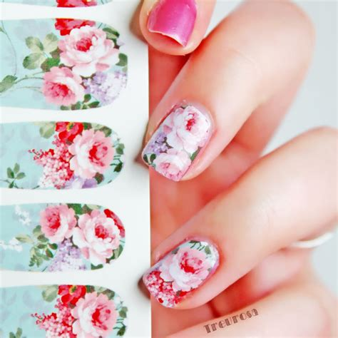 Nail Water Sticker 12 Pcs 1 12pcs nail water decals transfer stickers chic bloomy floral pattern c6 001 15709 in