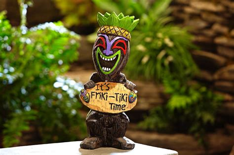 Garden Oasis Friki Tiki Torch Pineapple Outdoor Living Friki Tiki Solar Lights