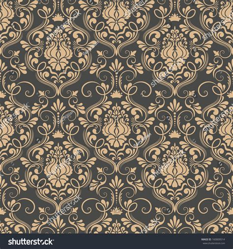 seamless pattern shutterstock vector damask seamless pattern background elegant stock