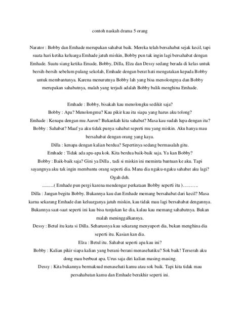 contoh naskah drama persahabatan 5 orang contoh naskah drama 5 orang
