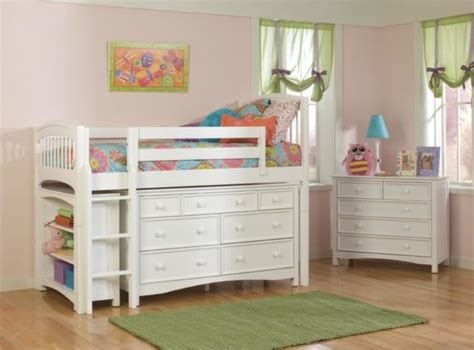 white loft bed with desk and dresser furniture metal loft bed for teenage girls with futon and