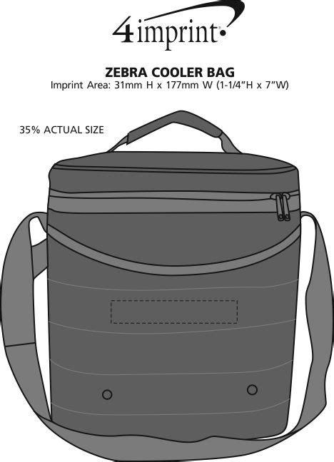 gabag new zebra cooler bag 4imprint ca zebra cooler bag c119529 imprinted with your