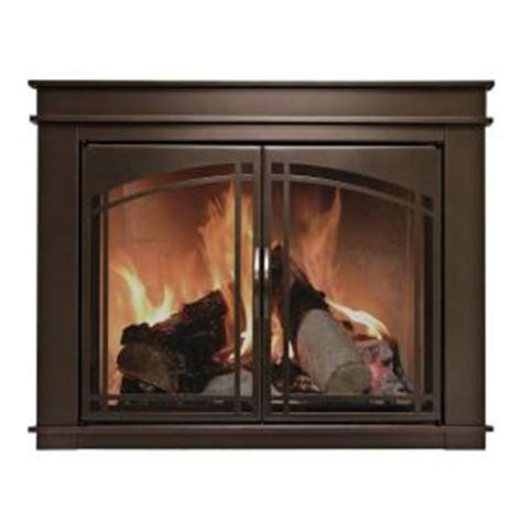 pleasant hearth fenwick small glass fireplace doors fn
