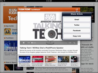 usa today travel section usa today adds tech travel sections to ipad app macworld