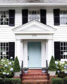front door colors for white house the pink pagoda blue and white monday curb appeal