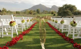 beautiful outside outdoor wedding ceremony decorations romantic decoration