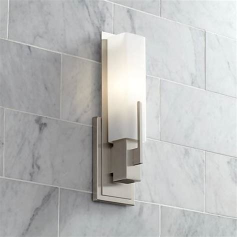 possini bathroom light fixtures possini euro midtown 15 quot high satin nickel wall sconce