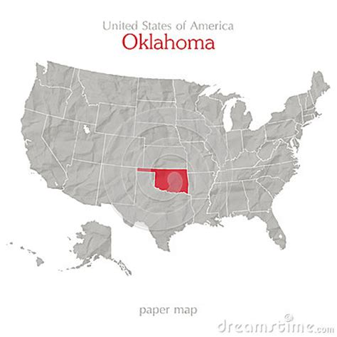map of the united states oklahoma oklahoma stock vector image 40559110