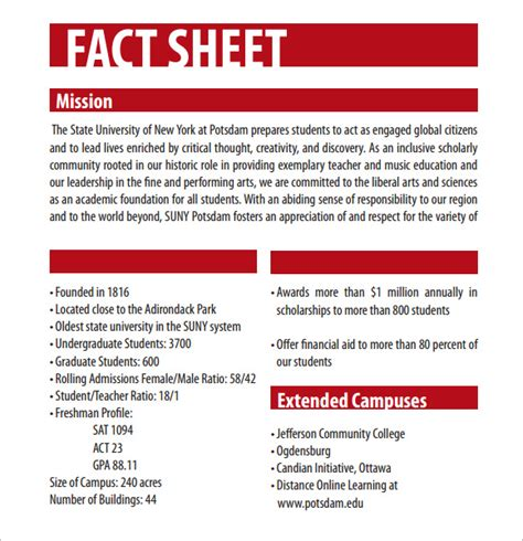 12 fact sheet templates excel pdf formats