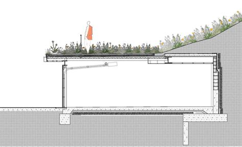 section of roof green roofs blackbird architects inc