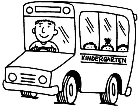 coloring page of school bus driver kindergarten bus driver coloring pages best place to color