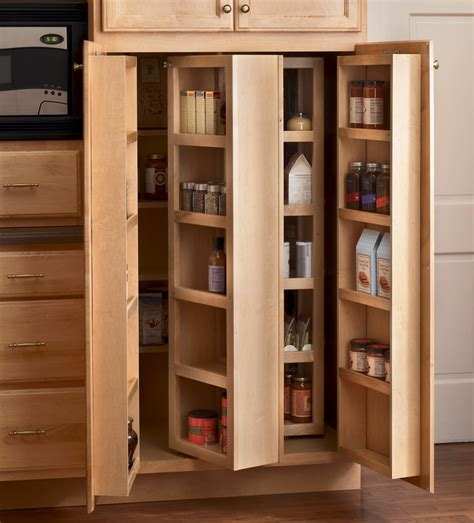 Corner Kitchen Pantry Cabinet To Maximize Corner Spots At Kitchen Storage Pantry Cabinets