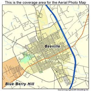 aerial photography map of beeville tx