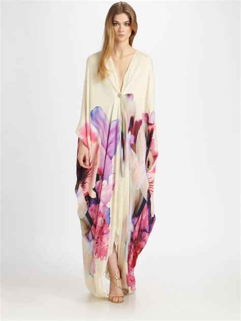 Cavali Dress roberto cavalli v silk caftan gown in white lyst