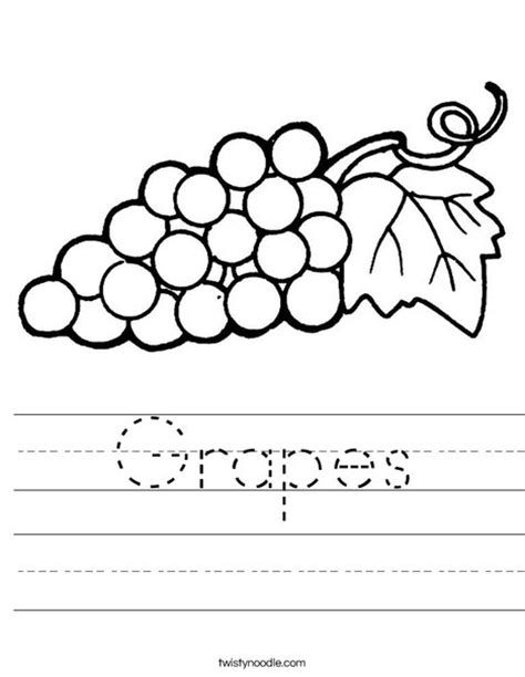 grapes printable coloring page grapes worksheet twisty noodle