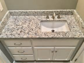 Granite Undermount Bathroom Sink by Ashen White Granite Countertops Moen 8 Quot Widespread Faucet