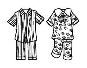 Pajamas Colouring Pages Page 2 sketch template