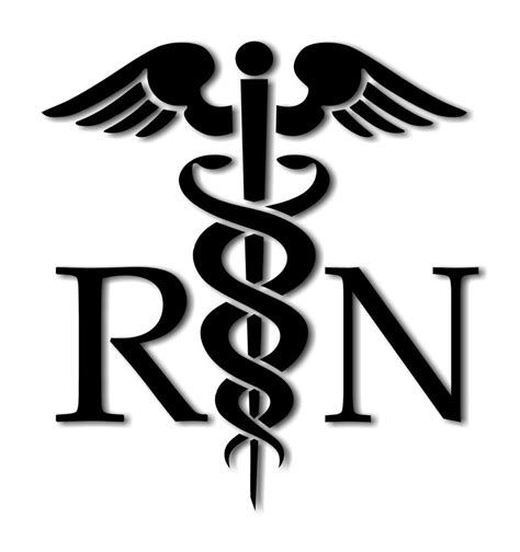 Southern Home Decor by Caduceus Medical Symbol Rn Decal Vinyl Sticker Sizes