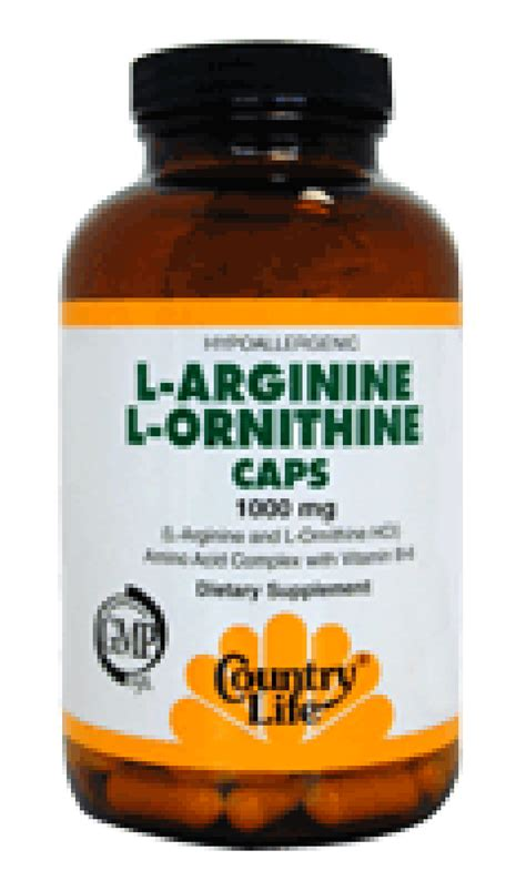 arginine before bed l arginine l ornithine discount country life l
