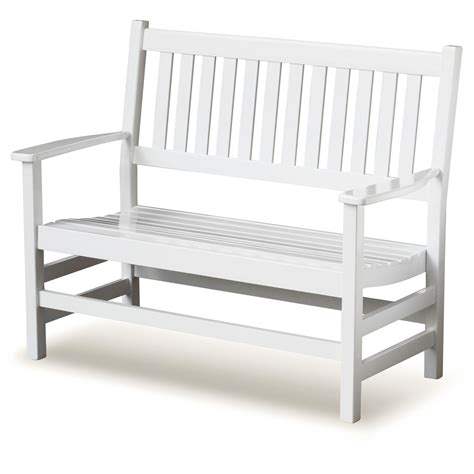 cottage style bench plantation 49 cottage style bench slatted white paint