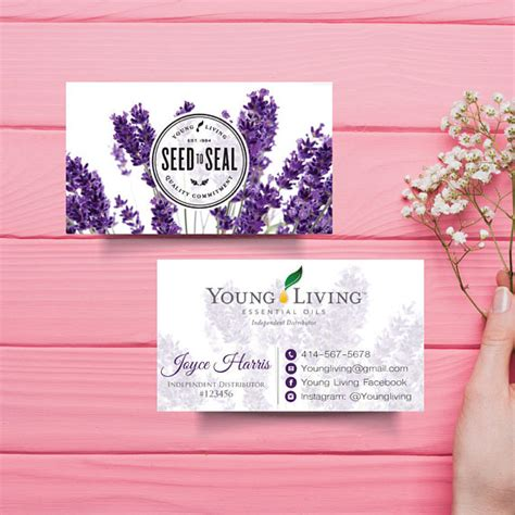 printable young living business cards young living business card custom young living business card