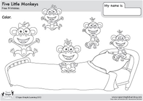 ten little monkeys coloring page ten in a bed coloring pages coloring page