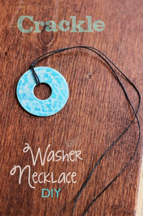 easy jewelry to make and sell crackle washer necklace diy sweet t makes three