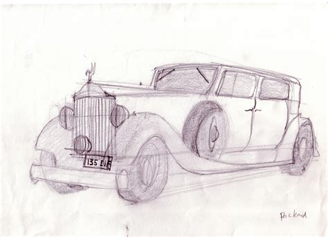 vintage cars drawings drawing