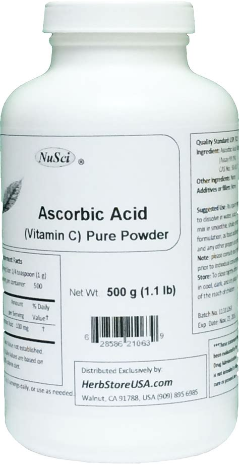 Ascorbic Acid Shelf by Bulk Ascorbic Acid Vitamin C Powder 500g 1 1 Lb Usp
