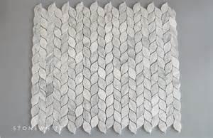 Grey Color Bathroom Beautiful Leaf Shape Backsplash Mosaic Tile Buy Leaf