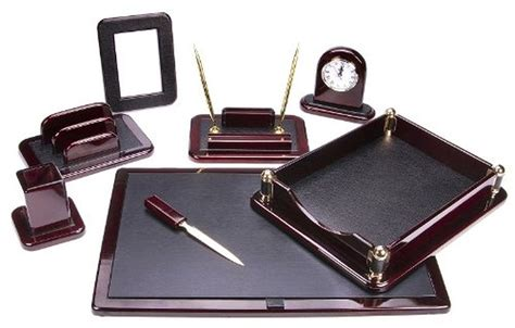 Desk Sets Accessories Office Set Supply Tray Pen Holder Executive Work Space Leather Desk Organizer Cad 209 44