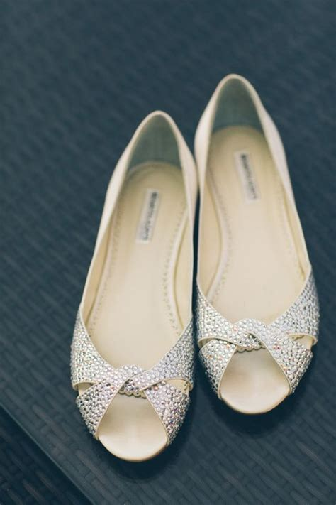 Sparkly Wedding Flats by Chic Fort Tryon Park Outdoor Wedding Flat