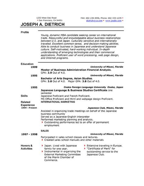 Writing A Resume In Microsoft Word   Free Resume Templates