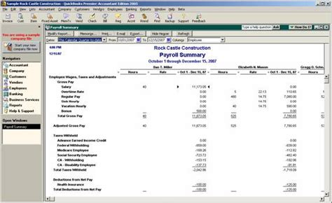 payroll accounting software free check register template payroll summary report
